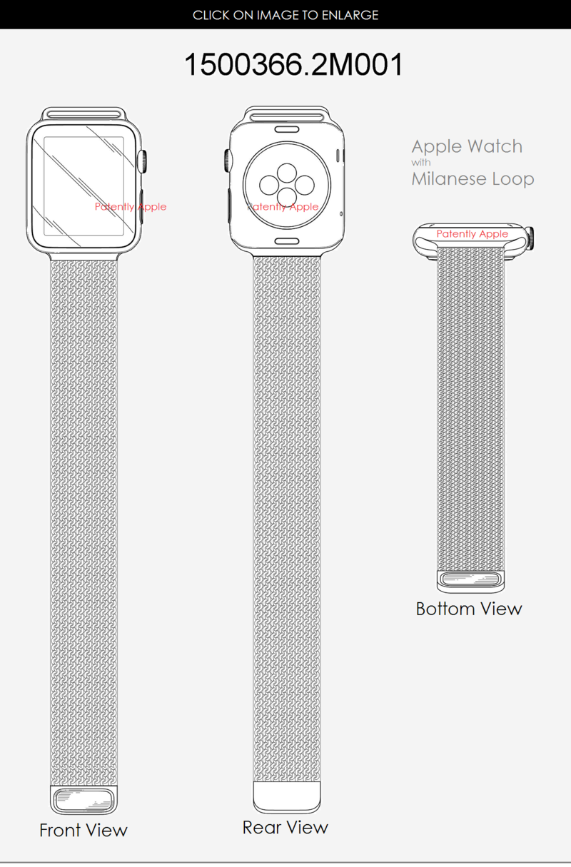 3AF APPLE WATCH WITH MILANESE LOOP DESIGN PATENT 1500366.2M001