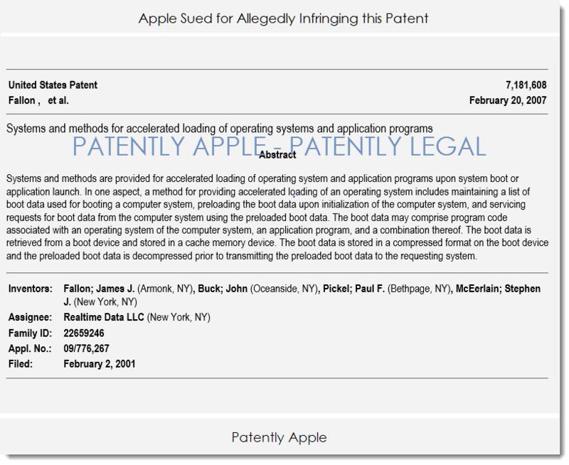 2AF PATENTLY LEGAL REALTIME DATA V. APPLE