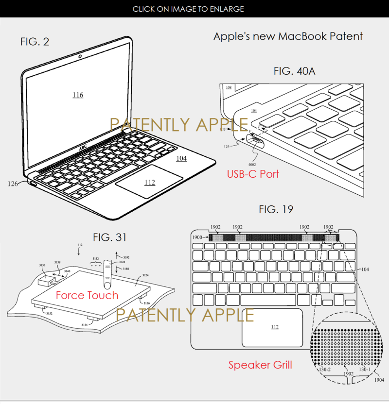 2AF 55 MACBOOK PATENT USB-C + FORCE TOUCH