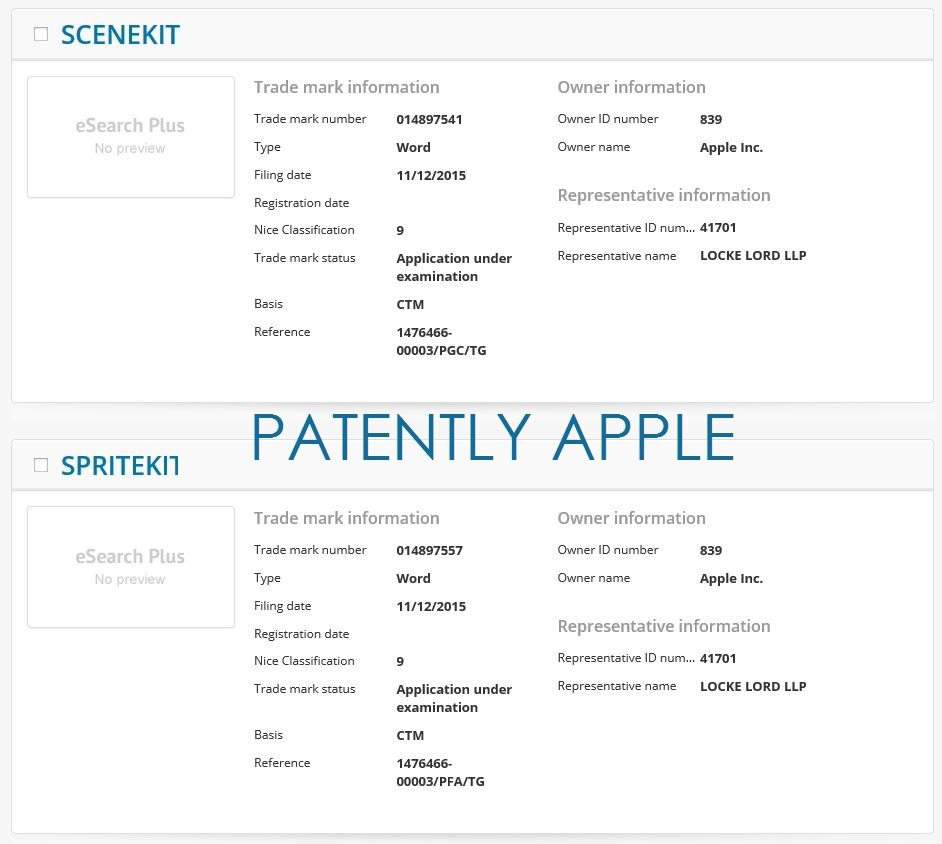 Apple Files Trademarks in Europe & China this Week for
