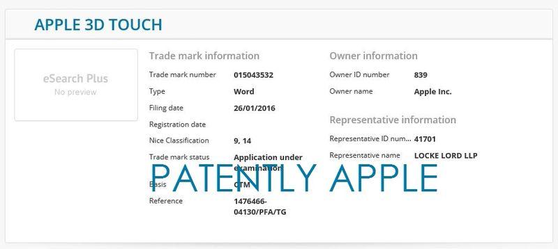 3af 55 Apple 3D Touch
