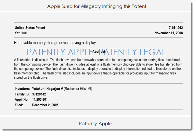 2AF 55 - APPLE SUED FOR ALLEGEDLY INFRINGING THIS PATENT