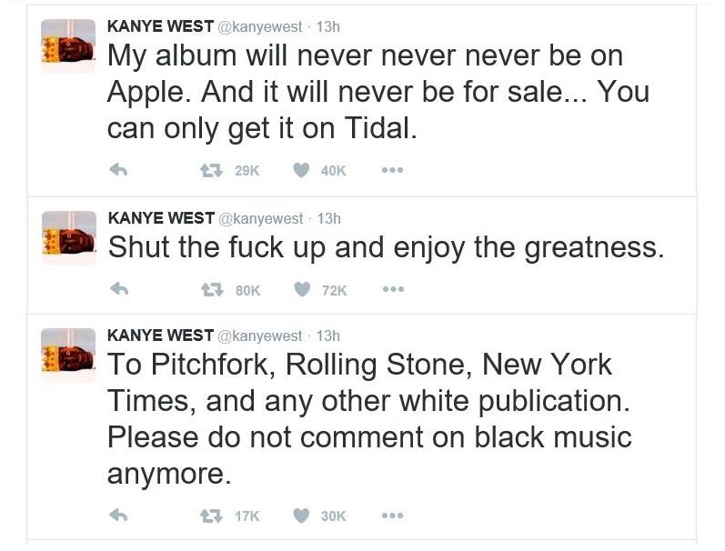 2AF 55  kanye tweets 2-15-2016