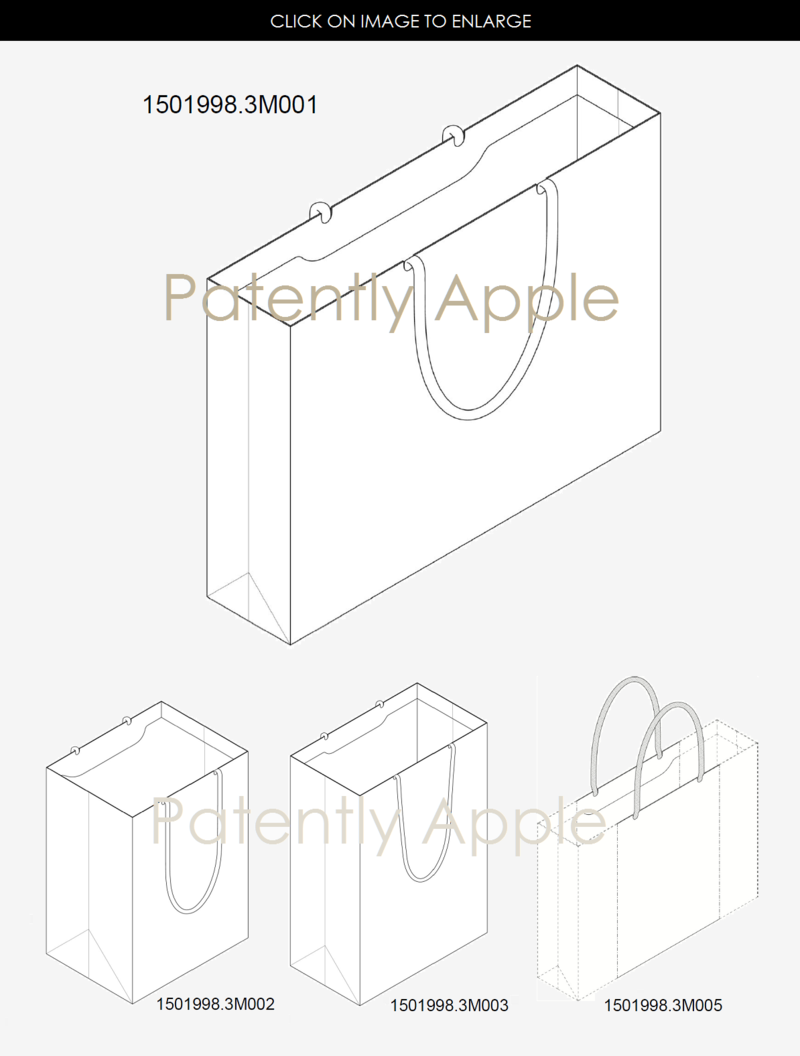 4AF 999 APPLE STORE RETAIL BAGS IN VARIOUS SIZES