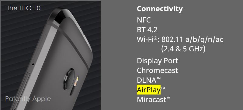 1AF 55 HTC 10 - AIRPLAY