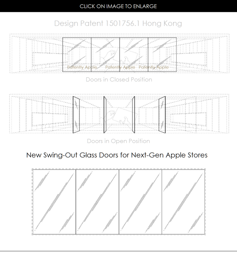 4AF 88 APPLE STORE NEXT GEN SWING OUT GLASS DOORS DESIGN PATENT