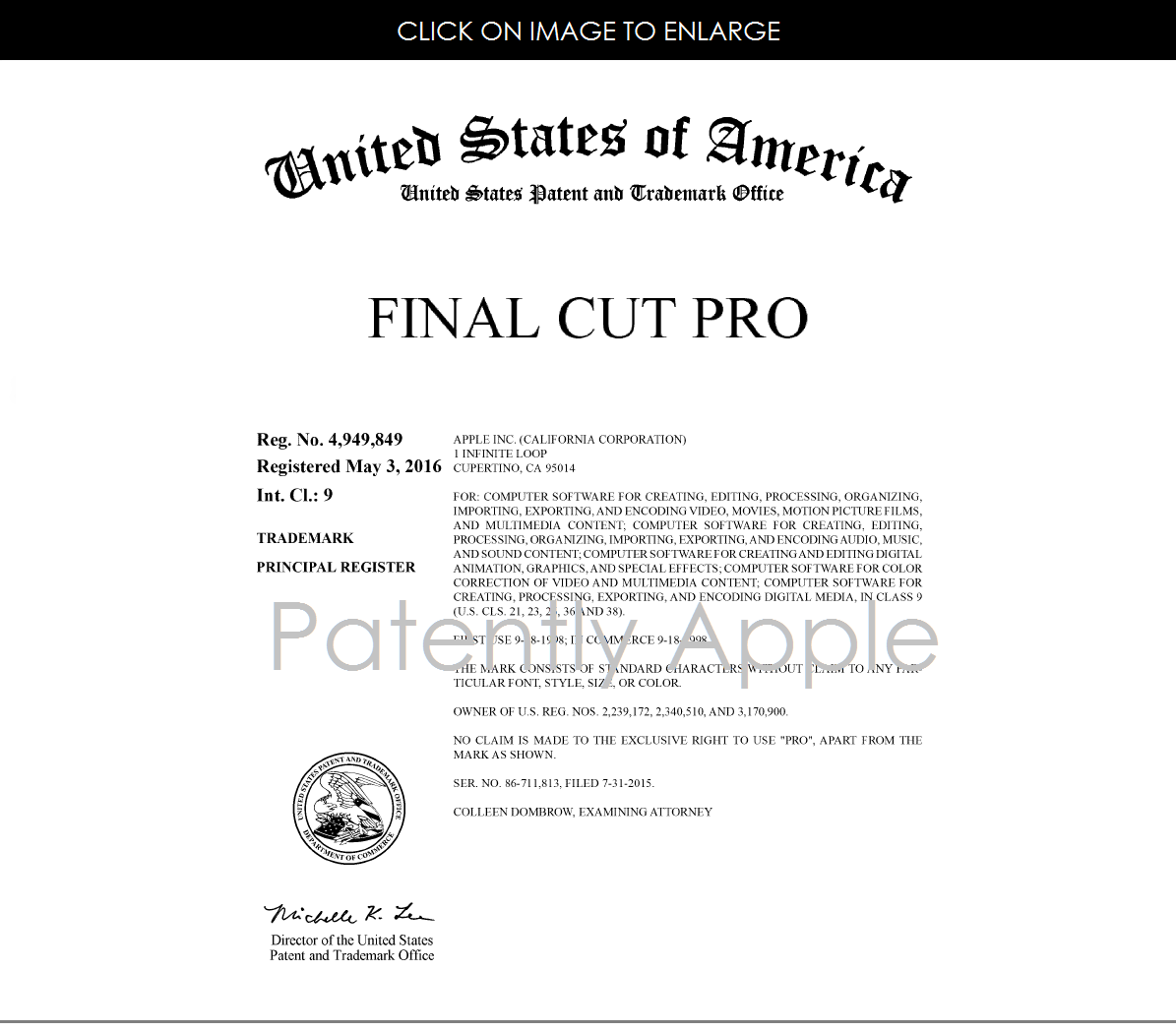 Apple Granted Rtm Certificate For Final Cut Pro Files For