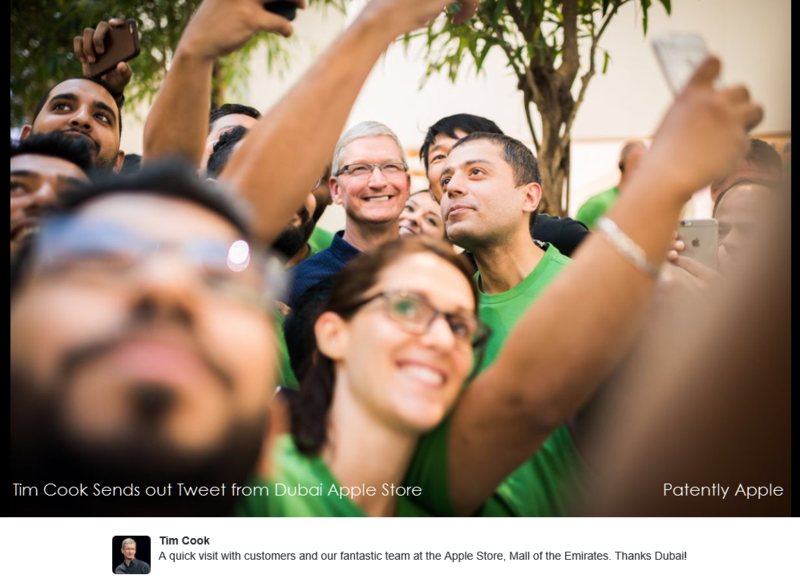 3af cook tweet from Dubai Apple Store May 2016