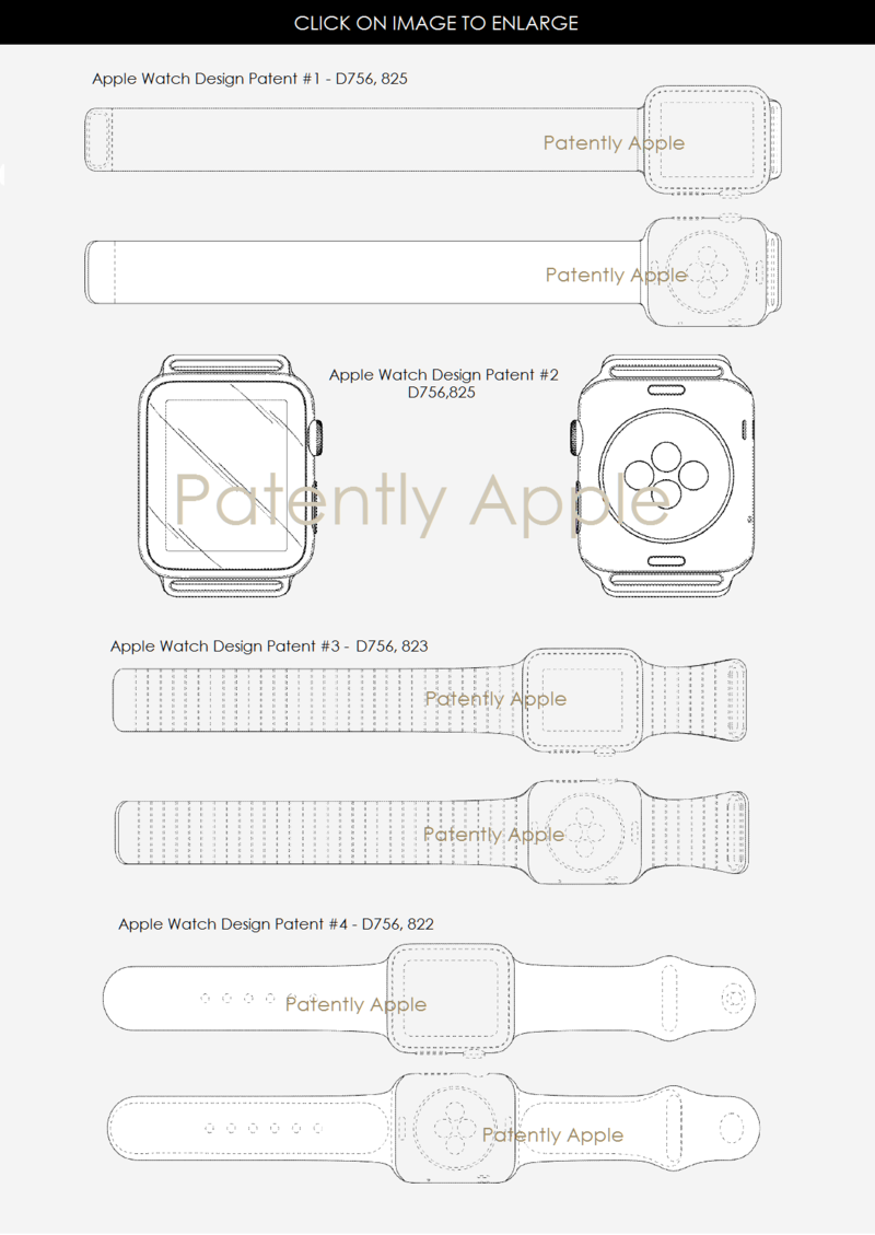 3af 55 apple watch design patents