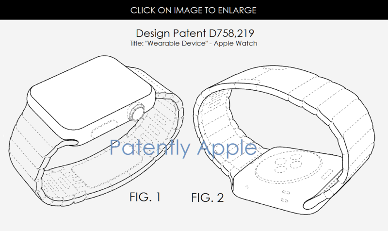 5AF 88 WEARABLE DEVICE DESIGN PATENT - APPLE WATCH
