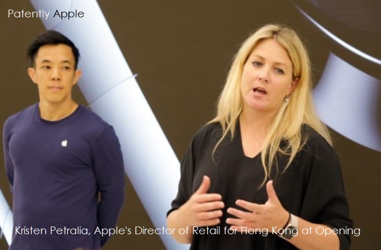 2 apple director of retail hong kong Kristen Petralia today sept 22, 2016