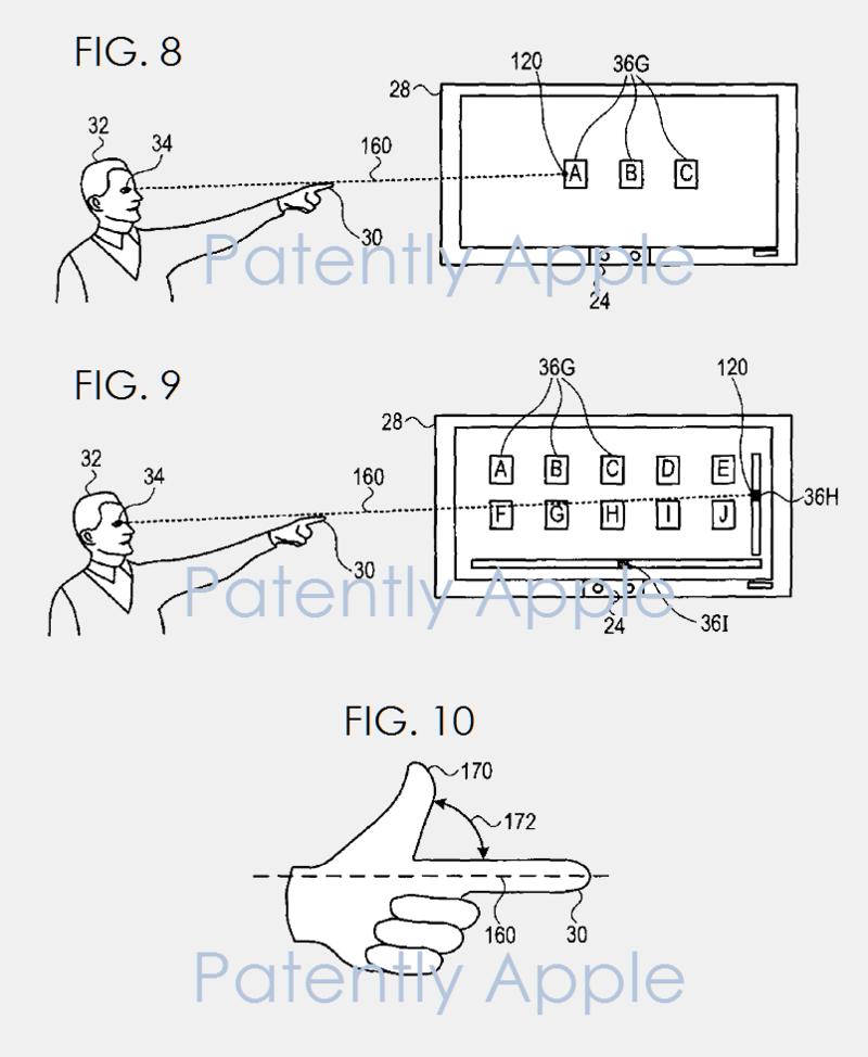 4af 88 gaze control patent apple primesense