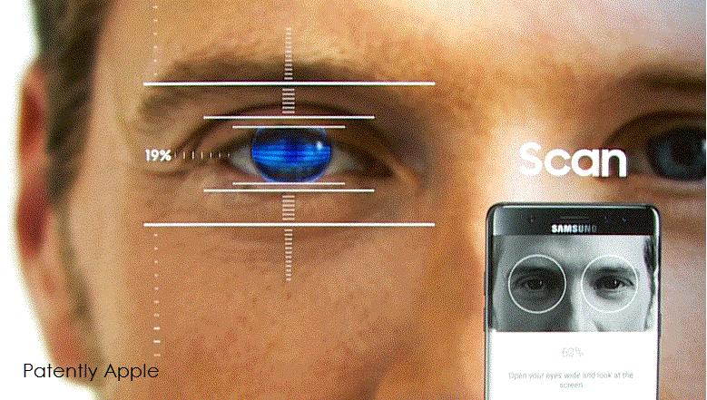 2 AX 99 samsung iris scanner