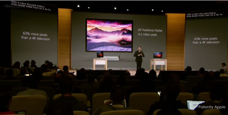 7af msft surface studion 63 percent more pixels that a 4k tv