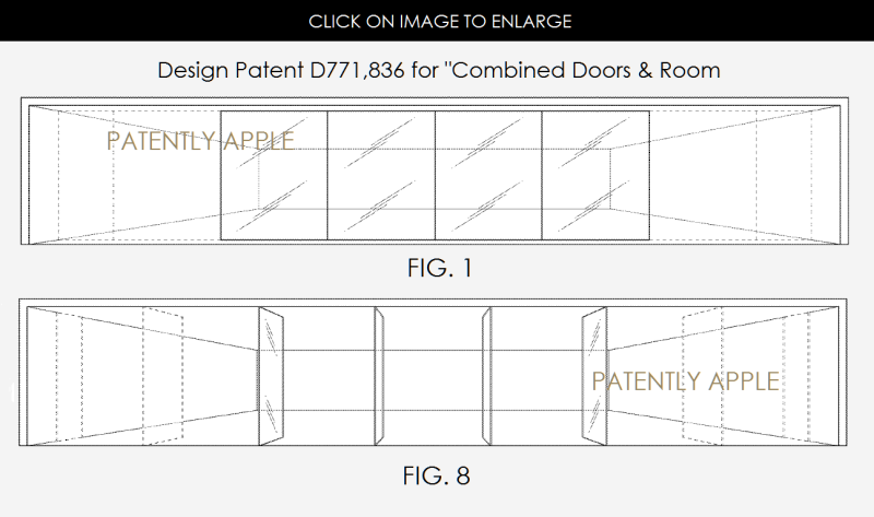 2AF 88 APPLE STORE DOOR AND ROOM DESIGN PATENT FIGS. 1 & 8
