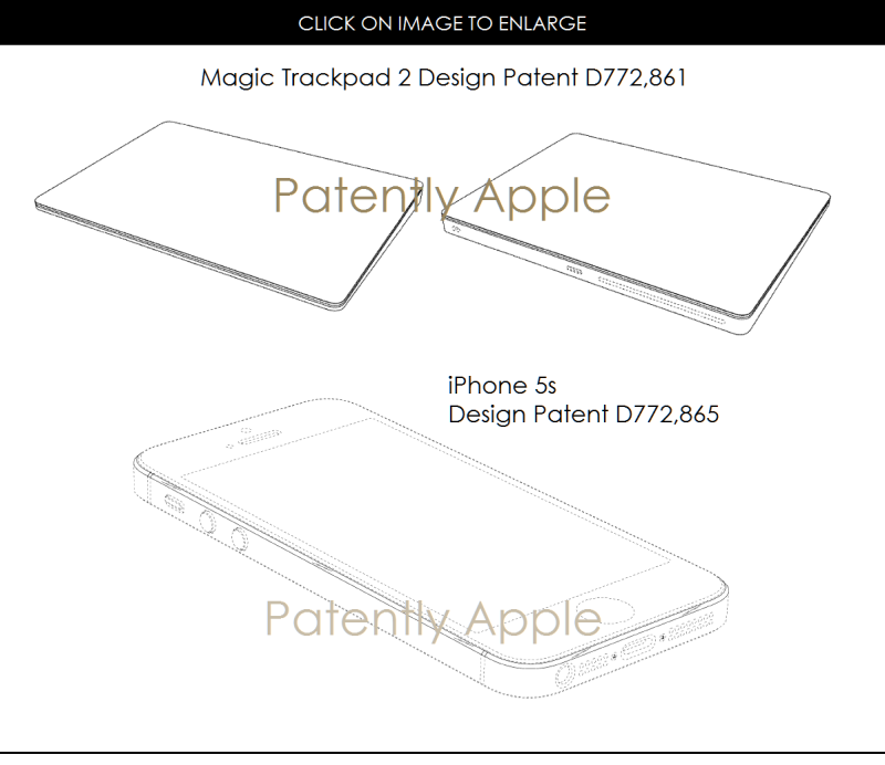 3AF 88 DESIGN PATENTS FOR MAGIC TRACKPAD AND IPHONE 5S