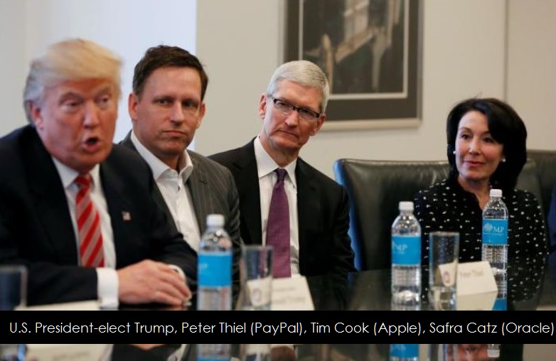 1af 88 President-elect Trump, Tim Cook + PayPal and Oracle CEOs