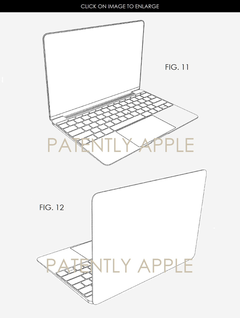 4AF X88 MACBOOK DESIGN PATENT DEC 20, 2016 USPTO FOR APPLE