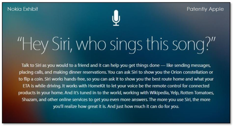 4af X siri graphic in nokia patent lawsuit