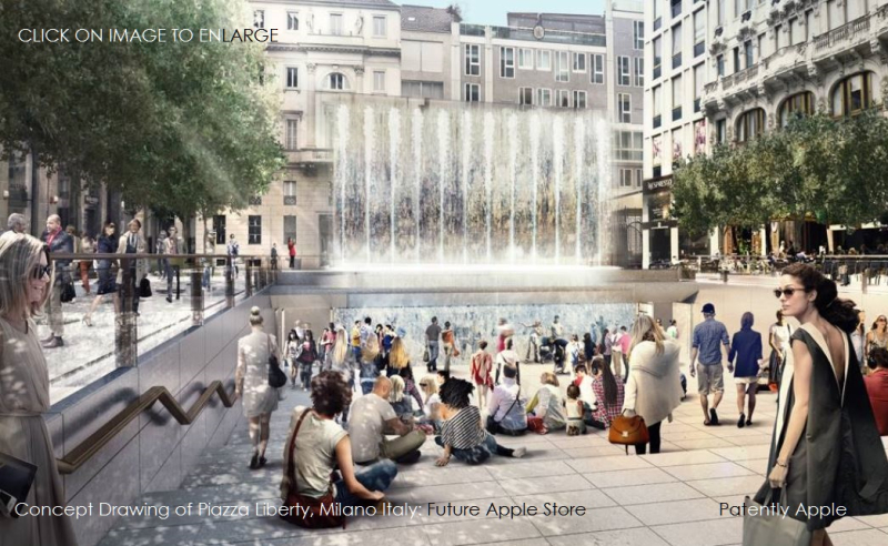 1x 999 apple store in Piazza liberty milan italy concept drawing 1