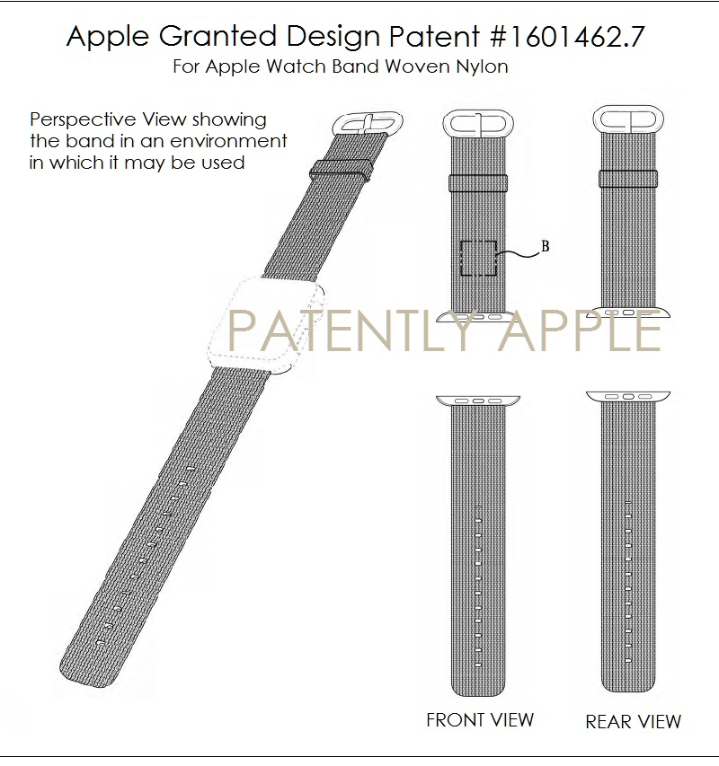 4AF 88 APPLE WATCH BAND NYLON WEAVE GRANTED PATENT IN HONG KONG 2017