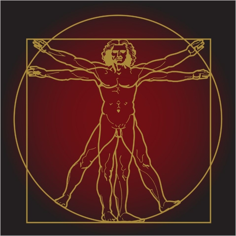 1 af 999 Vitruvian Man