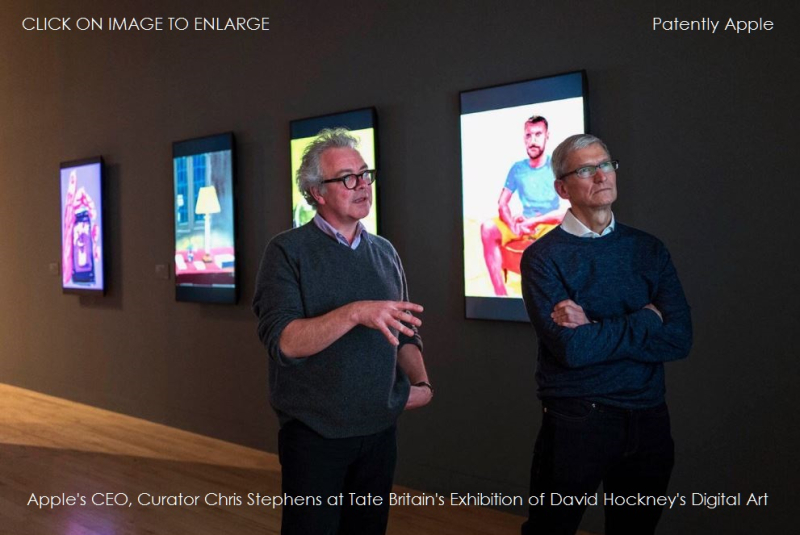 4AF 88 APPLE'S CEO AT TATE BRITIAN'S Exhibition of David Hockney's Digital Art feb 2017