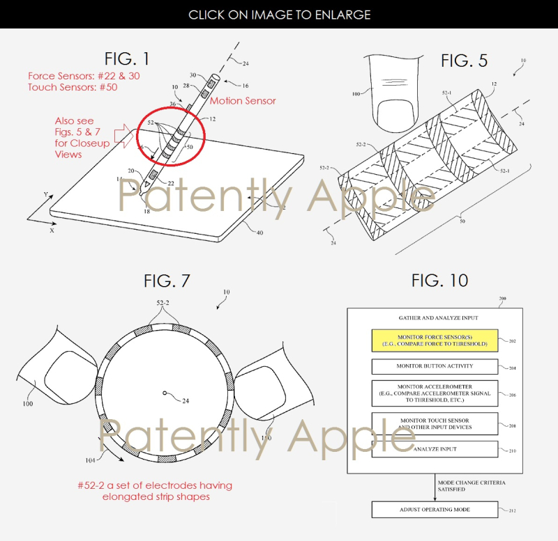 2af force sensors for apple pencil
