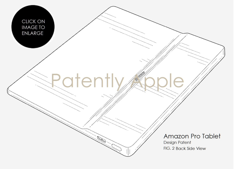 3A X99 AMAZON FIG. 2 BACK SIDE VIEW PRO TABLET