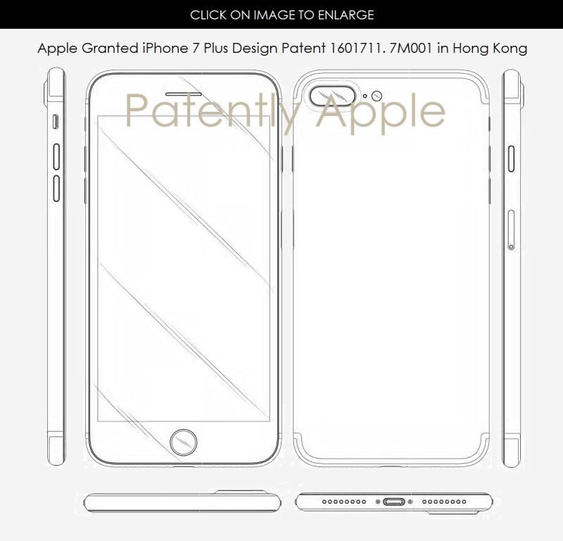 3AF IPHONE 7 PLUS DESIGN patent - hong kong 7M001