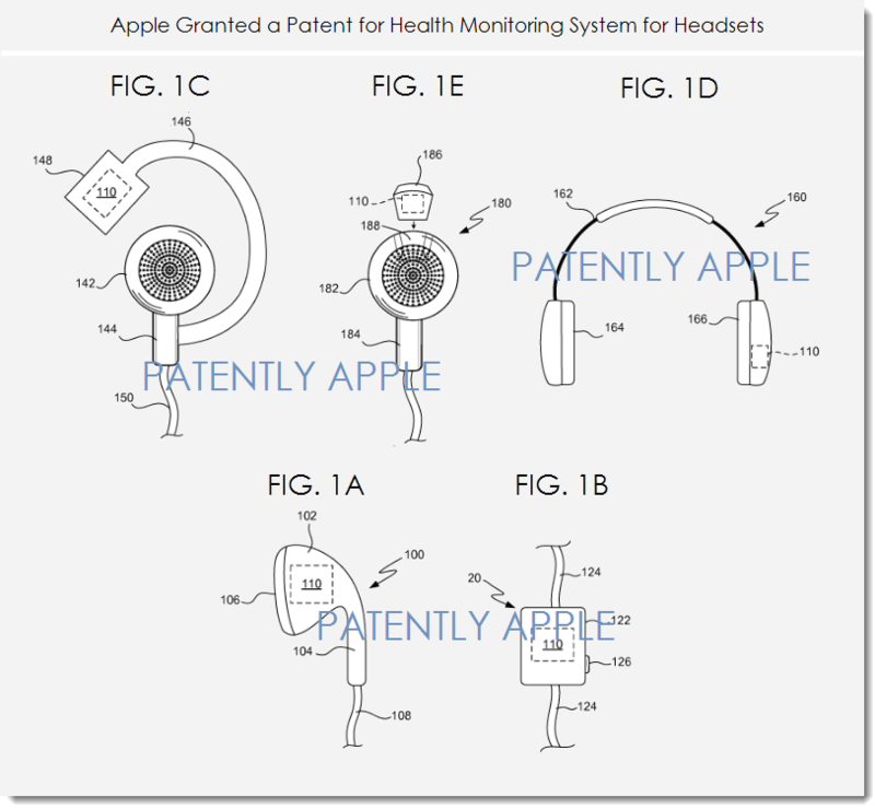 2af 88 1st apple patent on biometrics in earbuds  earpods
