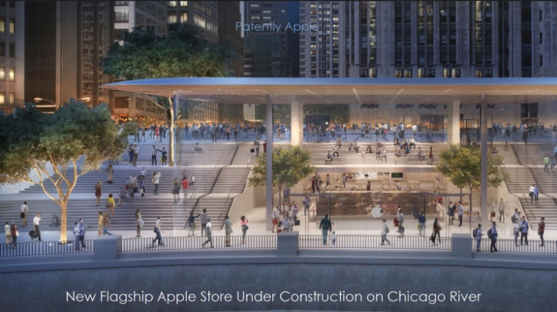 1 Cover X99 Apple Store in Chicago under construction