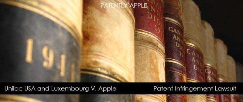 1AF 88X UNILOC V. APPLE PATENT INFRINGEMENT