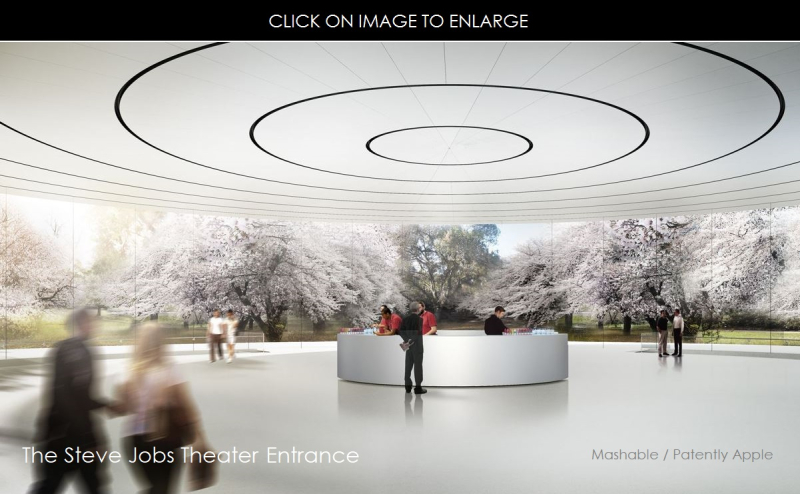 3AAA THE STEVE JOBS THEATER ENTRANCE NEW HQ CUPERTINO