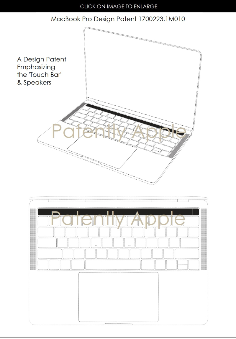 6AF X99 MACBOOK PRO HONG KONG DESIGN PATENT FOCUS TOUCH BAR  PATENTLY APPLE