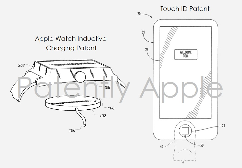 3AF X99 APPLE GRANTED PATENTS FOR APPLE WATCH CHARGING  TOUCH ID