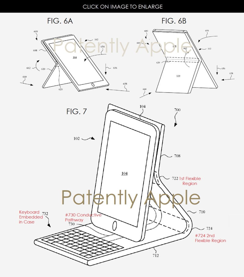 4AF X99 APPLE PATENT FIGS 6AB  7 NEW IPHONE CASE CONCEPTS
