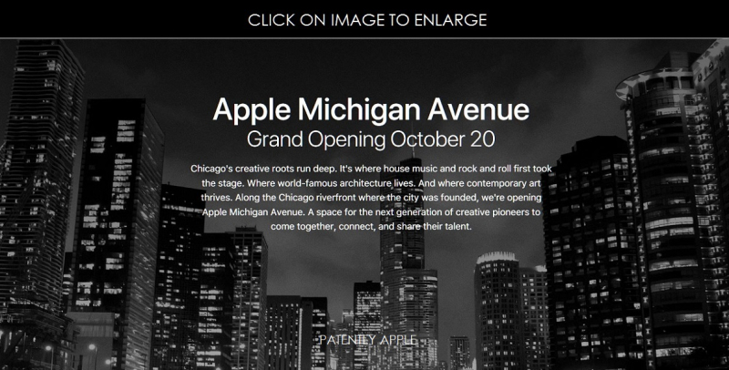 4AF X99  LARGE APPLE MICHIGAN AVENUE OCT 20 GRAND OPENING