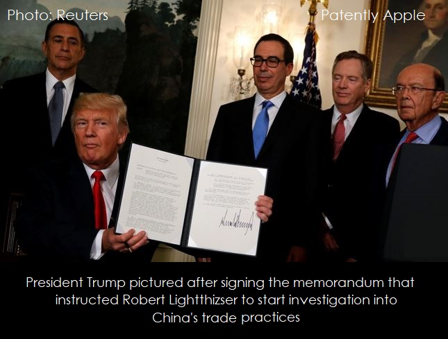 2AF TRUMP INSTRUCTS ROBERT LIGHTTHIZSER TO INVESTIGATE CHINA TRADE POLICIES