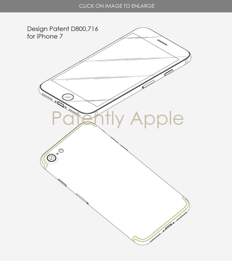 4 victoire de brevet de conception d'iphone 7