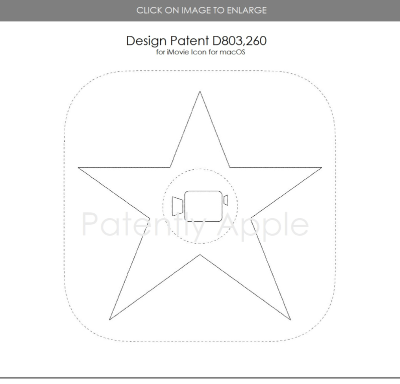 3 DESIGN PATENT FOR IMOVIE FOR MACOS
