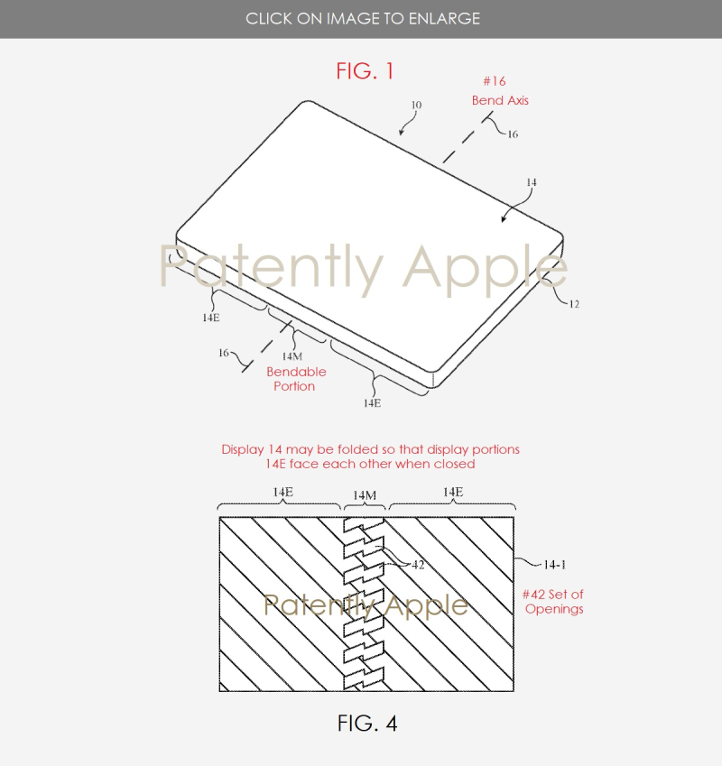 2 bendable iphone patent