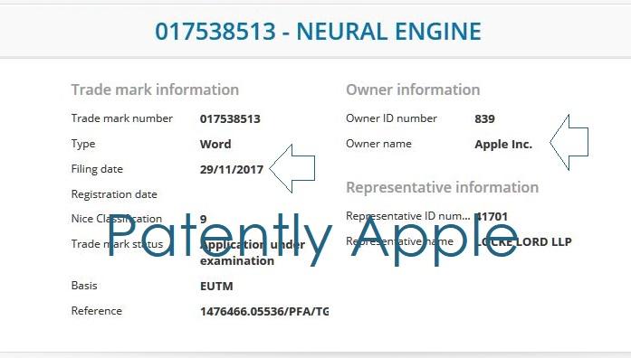 2 EU FILING FOR NEURAL ENGINE TM