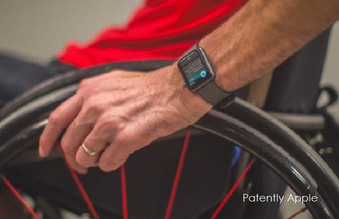 photo image Apple's Patent behind their Apple Watch Wheelchair App for Athletes Comes to Light