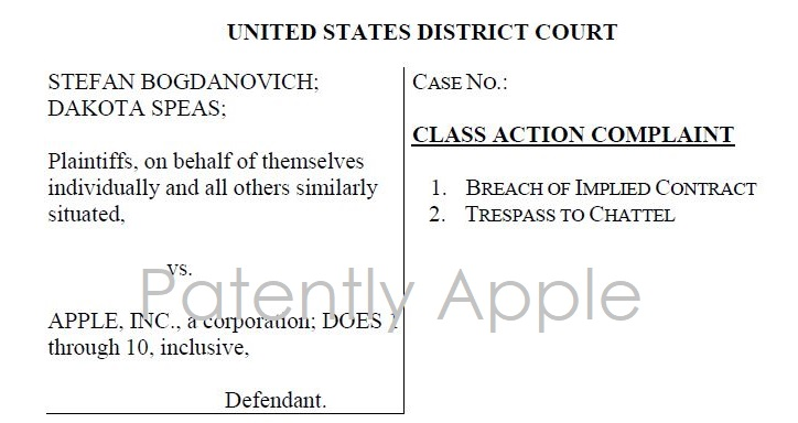 1 COVER -  CLASS ACTION AGAINST APPLE  DEC 21  2017  PATENTLY APPLE