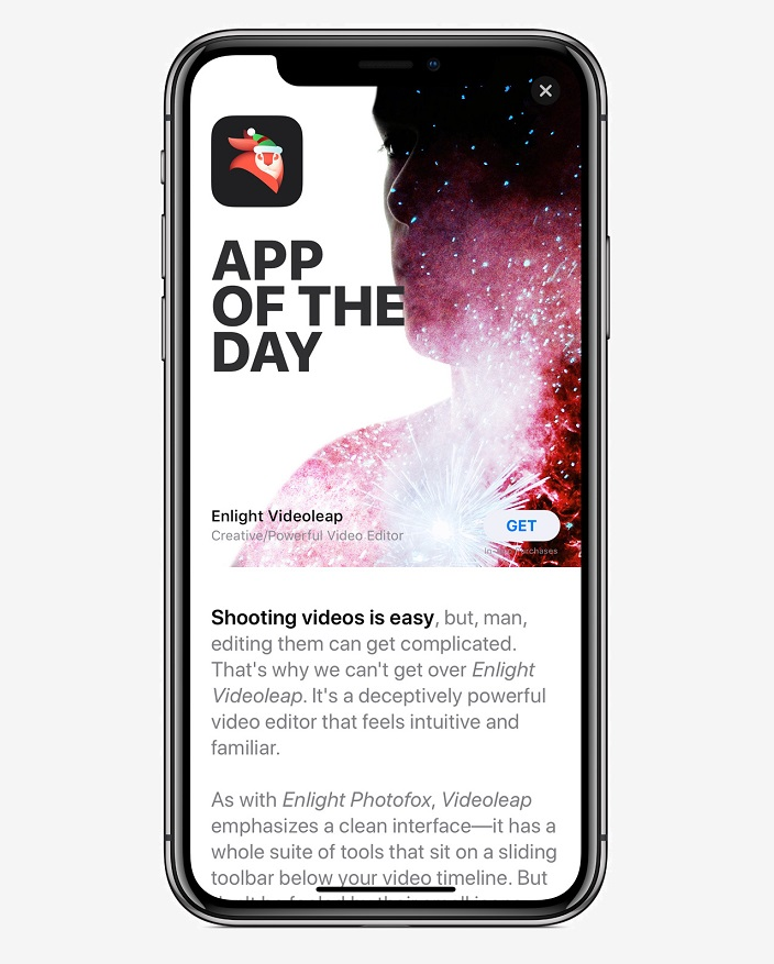 2 iPhone X app of day screen