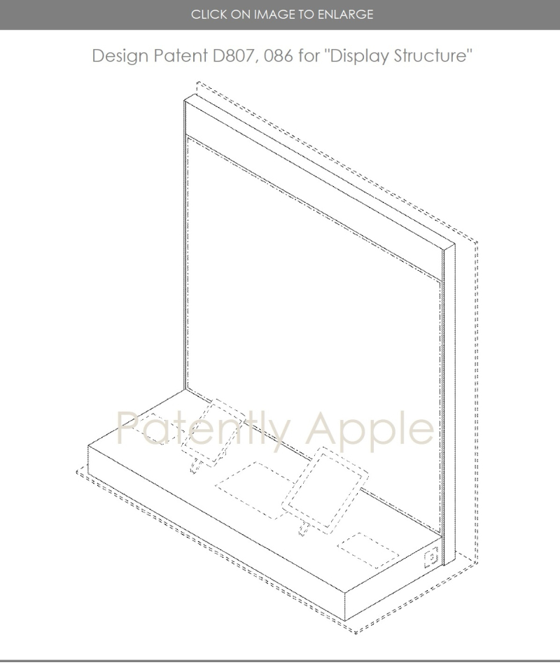 3. APPLE DESIGN PATENT FOR DISPLAY STRUCTURE