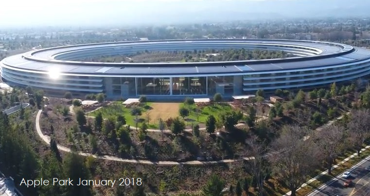 A New View of Drone Video Shows Us The Latest Advances of The Apple Park