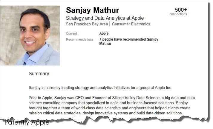 2 x Sanjay mathur now with Apple jan 2018