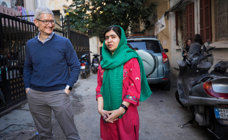 1 cover with Tim Cook and Malala Yousafzai